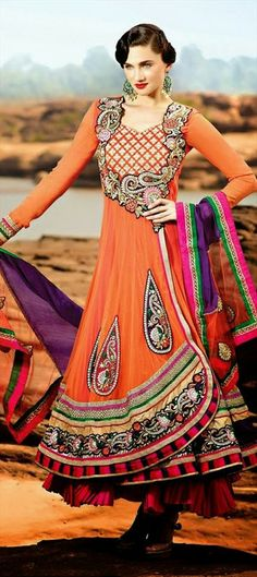 409362: #Layers #anarkali #Festivewear