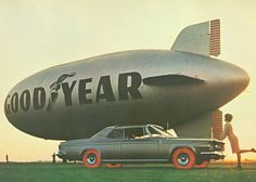 A 1960's promotional image for Goodyear's experimental red plastic tires.