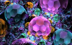 fractal gemstones | bubble gems by wolfepaw digital art fractal art raw fractals this was ...