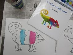 Watercolor Chameleons