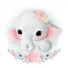Discover thousands of Premium vectors available in AI and EPS formats Cute Baby Elephant, Elephant Art, Cute Baby Animals, Baby Elephants, Indian Elephant, Wild Animals, Baby Animal Drawings, Cute Drawings, Cute Images
