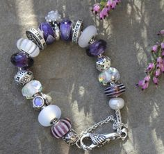 Purple and White Trollbeads from Shady Lane Gifts  #trollbeads #ShadyLane_Gifts