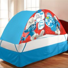 Smurfs Bed Tent With Pushlight