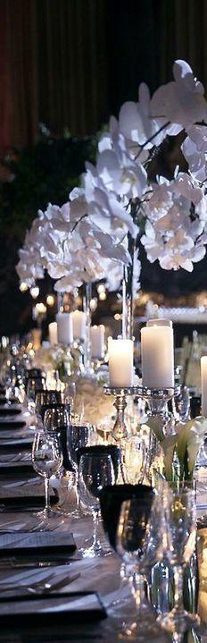 Garden Wedding Decorations, Table Decorations, Some Enchanted Evening, Enchanted Garden, Masquerade Wedding, Romantic Candles, Birthday Places, Black Tie Wedding, Here Comes The Bride