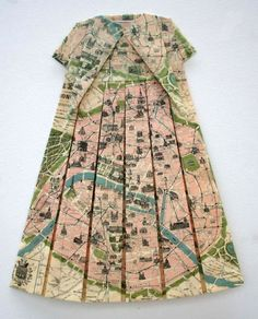 Great map-paper dresses by artist Elisabeth Lecourt. Once of Kingston Poly no less.