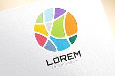 Abstract earth logo. Globe logo icon by Vector-Stock on @creativemarket