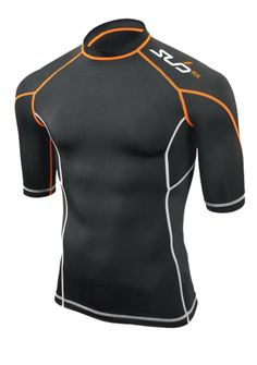 Sub Sports RX.  The most advanced compression tops in our range. The technology  'Lycra Sport Energy'.  Reducing unwanted moisture whilst providing oxygen to all in the torso muscles to maximise stamina.  The Lycra fabric's has been stress tested to ensure the shape lasts longer than other compression layers to maintain retention wash after wash.  Each garment comes with an elastic waste band to prevent the garment riding up your waste during exercise.
