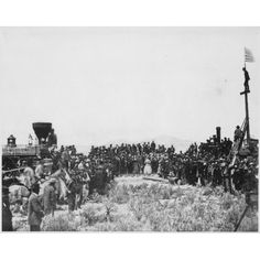 Joining the Tracks for the First Transcontinental Railroad
