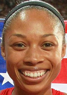 素敵な笑顔のアリソン・フェリックス
