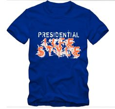 Presidential Lifestyle Fire Letters 100% cotton Size: X-Small, Small, Medium, Large, X-Large, 2XL, 3XL, 4XL Color: Blue Check our our Zazzle Shop Price: $28.99