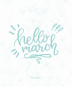 Hello March! #handlettering #30daysdraworletter #farbcafe
