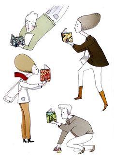 Without stopping to read / Sin parar de leer (ilustración de Anna Grimal)
