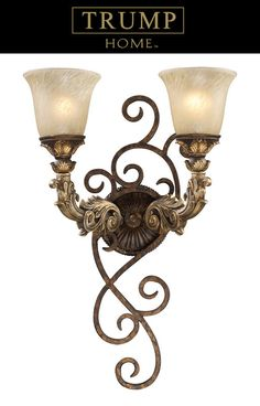 Elk Lighting 2155/2 Two Light Wallchiere from the Trump Home Regency Collection at Build.com.
