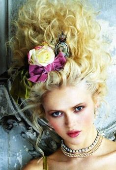 vintage victorian hair gone rouge