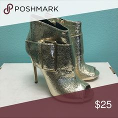 Gols buckle peep toe booties holiday Brand new no shoebox Shoes