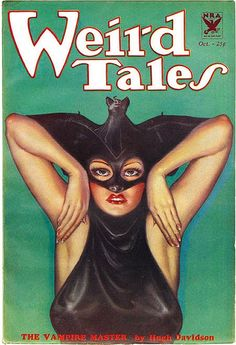 Weird Tales Magazine; October 1933  Cover Illustration by Margaret Brundage