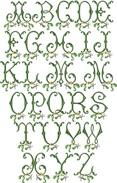 Mistletoe Machine Embroidery Font
