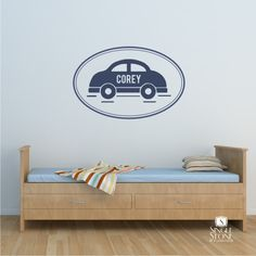 Car With Name Personalized - Vinyl Stickers Art Graphics Words Lettering. $24.00, via Etsy.