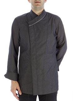 Chaqueta oriental V-gris #chaquetascocinero #cocina #csty #uniformeshosteleria