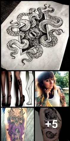 60 Octopus Tattoo Designs Worth Every Penny - Tattoos - . - 60 Octopus Tattoo Designs Worth Every Penny – Tattoos – …, - Octopus Tattoo Sleeve, Skull Girl Tattoo, Octopus Tattoo Design, Tattoo Designs, Octopus Tattoos, Tattoo Ideas, Japanese Tattoo Words, Small Japanese Tattoo, Japanese Tattoo Meanings