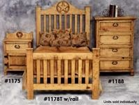 rustic pine furniture 1178 t twin star bed frame wrails at sutherlands