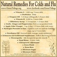 Natural Cold and Flu Remedies.