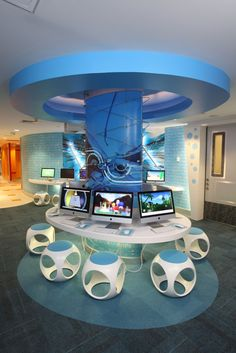 Atlantis Kids Adventures - Computer Area | Designed by Launch by Design Inc.