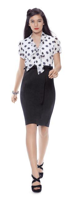Betty Clark Spot Bow Tie Dress $99.99 Farmers