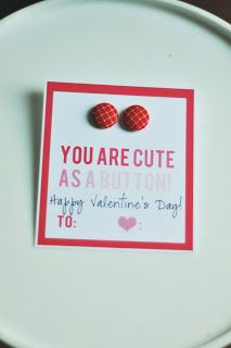 You are as cute as a button printable Valentine's Day gift idea! | www.thirtyhandmadedays.com