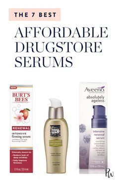 Serums are super concentrated, so they pack in the active ingredients, no prescription required. Check out these drugstore serums that are both affordable and effective. #serums #skincare #faceserums #antiaging