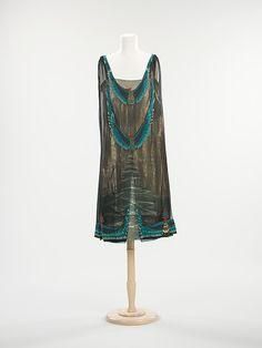 Evening dress Designer: Thurn (American) Date: 1923–26 Culture: American Medium: silk, metal Dimensions: Length at CB (a): 40 in. (101.6 cm)