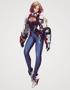 /r/CyberBooty collects art featuring hot cyberpunk, android, cybernetic, and mechanically enhanced chicks or all sorts. Female Character Concept, Fantasy Character Design, Character Creation, Character Design Inspiration, Character Art, Cyberpunk Girl, Arte Cyberpunk, Sci Fi Characters, Girls Characters