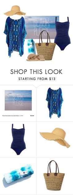 """Beach on a budget!"" by jnyaface ❤ liked on Polyvore featuring Marie Meili, New Look, Havaianas and coverups"
