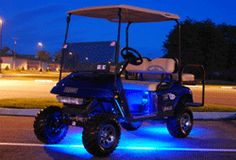 Golf Cart with Neon Lights~