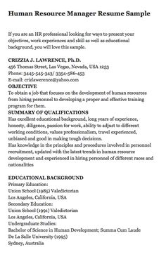 Undergraduate Resume Sample John Michael Patrickson 123 Holy Street California Usa 2030 02 .