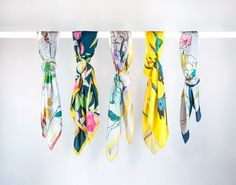 Silk Scarves by Claire Coles