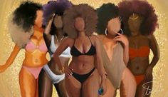 Black is beautiful - all shapes, shades and sizes Black Love Art, Black Girl Art, My Black Is Beautiful, Black Girl Magic, Art Girl, Black Girls, Beautiful Women, Beautiful Lips, African American Art