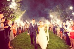 The most popular way for guests to send the happy bride and groom off is with sparklers. The burst of sparks light up the night in a magical way, especially when all of your guests light a path for you. It's spectacular especially during the summer and is as fun as it is beautiful. To top it all of, sparklers make for stunning photos.