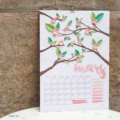 DIY Calendrier Mars // Calendar March - Free Printable
