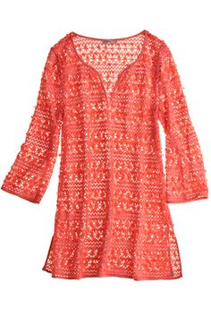From @Vogue Resorts Lalla Crochet Tunic. Wore this in St. Barts and loved it.