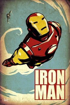 nice art style : iron man