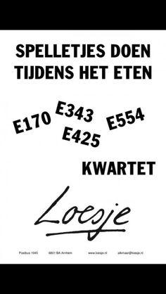Loesje - E-nummers