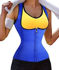 hot sweat shaper waisttrimmer compression slimming shirt for women men S Blue * More info could be found at the image url.