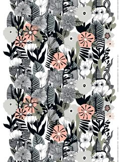 The new Kasvu print on heavyweight cotton fabric was designed by Maija Louekari; it's covered with large flowers and leaves.