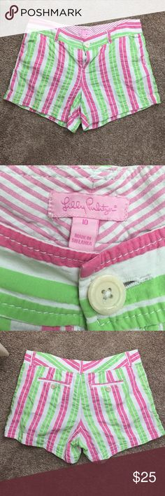 Lilly Pulitzer shorts Re-Posh due to a little more faded than I had expected. Good used condition otherwise. Priced to sell for what I purchased for. This is my lowest price. As I stated before, these are a little faded in my opinion but there are no stains or damage. Lilly Pulitzer Shorts