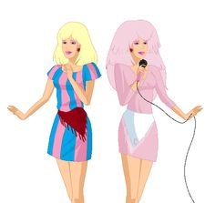 Jerrica and Jem by Mythical-Mommy on DeviantArt Girly Girl Outfits, Jem And The Holograms, Old Shows, All I Ever Wanted, Animation Film, Online Art Gallery, Disney Characters, Fictional Characters, Aurora Sleeping Beauty