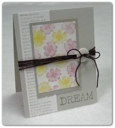 CC256 Dream by ejkeaton - Cards and Paper Crafts at Splitcoaststampers