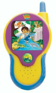 Fisher Price Go Diego Go Talking Rescue Radio says phrases in English and Spanish + Exclusive animal and collector card included by Mattel. $19.99