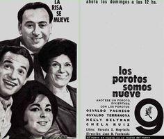 Publicidad de programación de CANAL 9, Buenos Aires, década del 70.