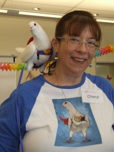 Super Dovee and Super Cheryl, a team which has hugely benefited the MickaCoo Pigeon and Dove Rescue Center in California.